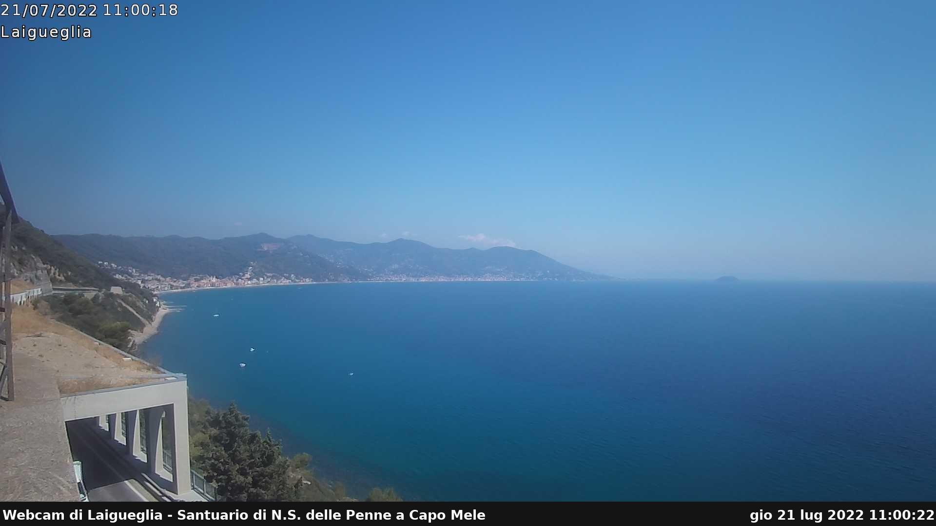 "Webcam Laigueglia - Centro meteorologico ""Rio Sa Rosa"""